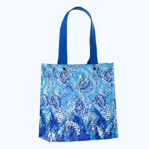 Lilly Pulitzer market shopper tote bag